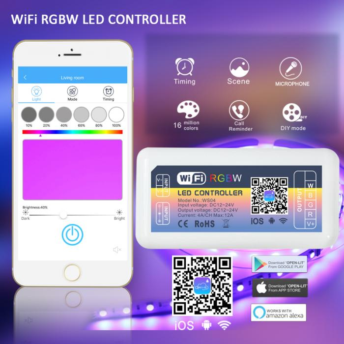 WIFI RGBW LED Controller (WS04)